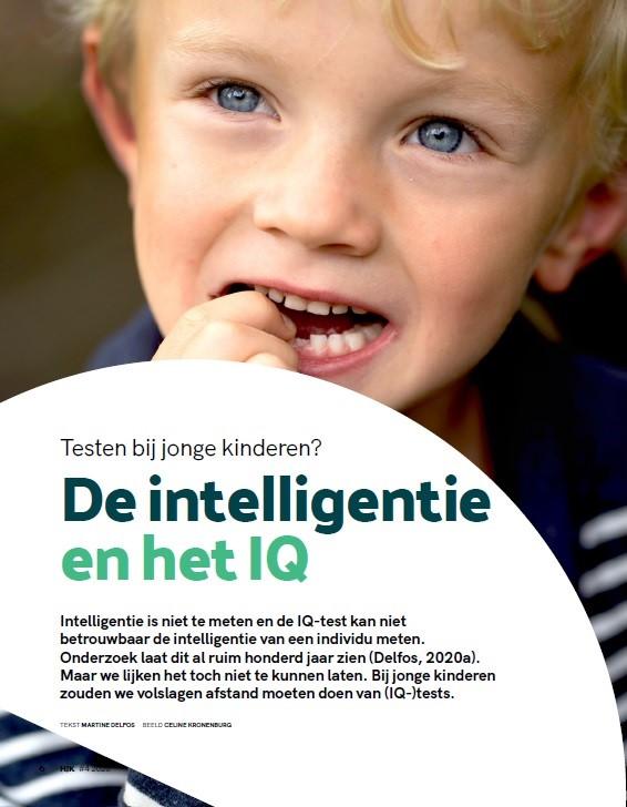 """Artikel """"De intelligentie en het IQ"""" in HJK"""